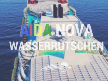 AIDAnova bekommt drei Wasserrutschen