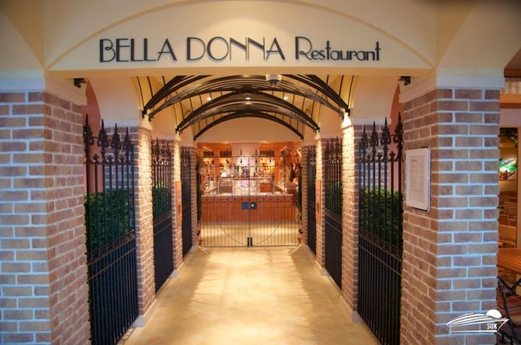 Bella Donna Restaurant auf AIDAperla
