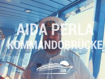 Die Kommandobrücke von AIDAperla mit Kapitän Boris Becker