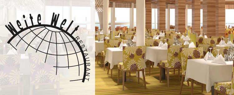 AIDAperla weite Welt Restaurant / © AIDA Cruises