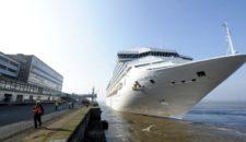 Costa Magica: Erstanlauf in Bremerhaven