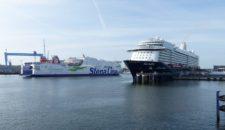 Erstanlauf der Mein Schiff 6 in Kiel