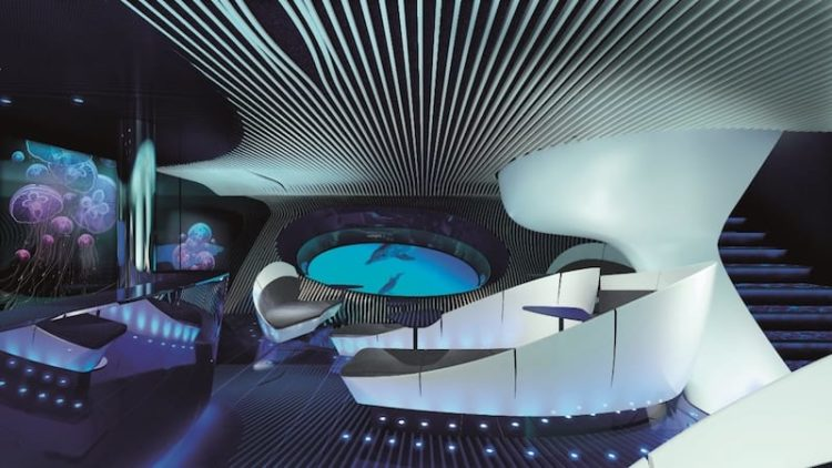 Unterwasser Lounge auf den Ponant Neubauten / © PONANT