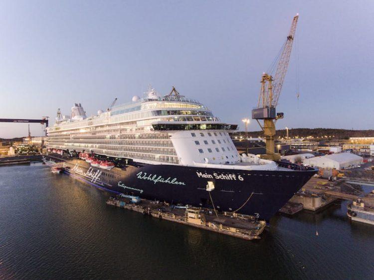 Mein Schiff 6 verlässt die Meyer Turku Werft / © TUI Cruises