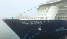 Mein Schiff 3: Umroutung wegen Starkwind auf der Nordsee