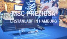MSC Preziosa – Erstanlauf in Hamburg (Bilder von Bord)