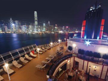 Queen Elizabeth in Hongkong - während ihrer Weltreise 2017 / © Cunard