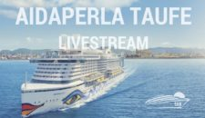 Live: AIDAperla Taufe auf Mallorca