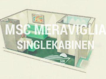 MSC Meraviglia: Einzelkabinen innen für Singles und Alleinreisende