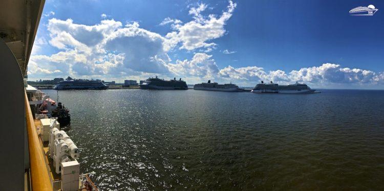 Kreuzfahrtschiffe in St. Petersburg