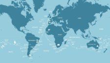 AIDAaura Teilstrecken der Weltreise