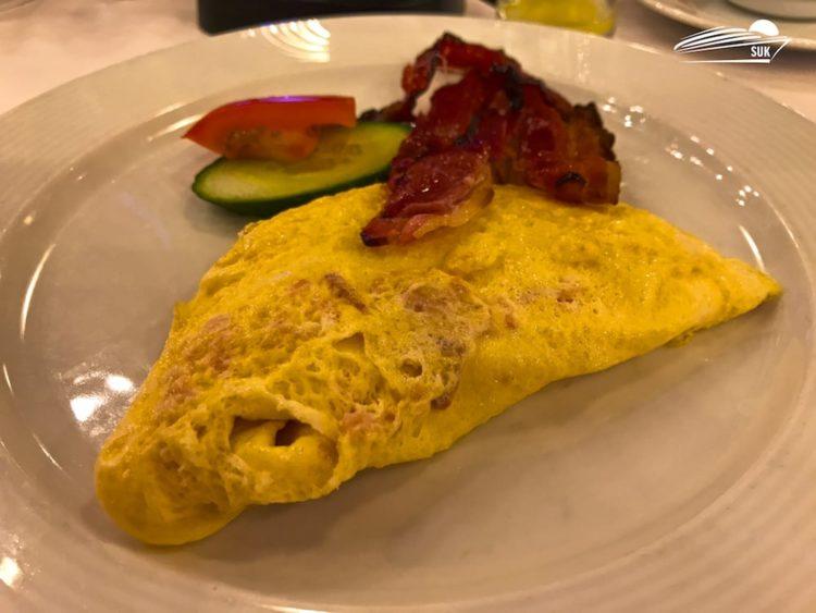 Frühstück im Restaurant Duca d'Orléans