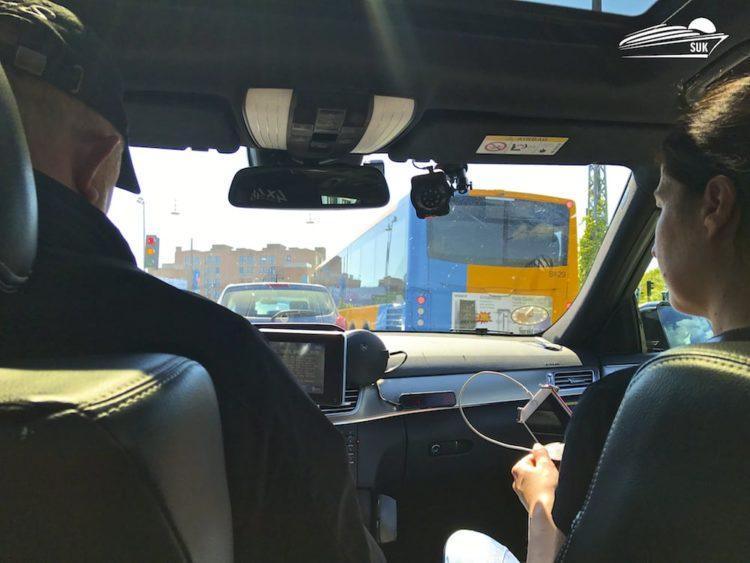 Wir fahren Taxi in Kopenhagen