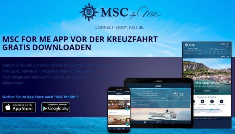 MSC for ME jetzt kostenlos downloaden / © MSC Crociere