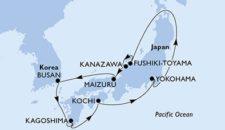 MSC Splendida Japan Kreuzfahrt – Erste internationale Asien Kreuzfahrt von MSC Kreuzfahrten
