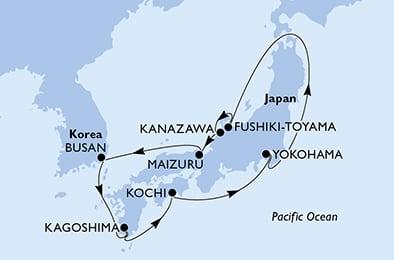 MSC Splendida Japan Kreuzfahrt © MSC Kreuzfahrten
