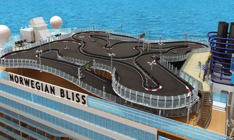 Norwegian Bliss Kartbahn @ NCL