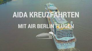 Informationen zu Flügen mit Air Berlin zu AIDA Kreuzfahrtschiffen