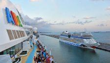 AIDA Gäste können während der Reise ander AIDA Schiffe besichtigen