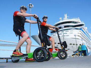 Neu bei AIDA Cruises: Landausflüge mit dem Scuddy Dreirad-Roller / © AIDA Kreuzfahrten