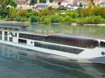 Die Crystal Bach wurde heute offiziell an Crystal River Cruises übergeben / © MV Werften