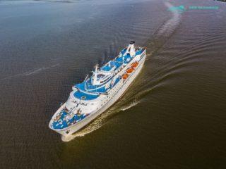 Ocean Majesty Luftbilder auf der Elbe am 16.08.2017