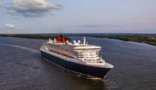 Sturm: Queen Mary 2 kommt mit 24 Stunden Verspätung nach Hamburg / Umroutung