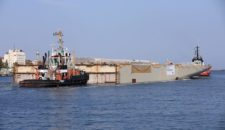 AIDAnova Sektionen starten auf der Neptun Werft in Richtung Meyer Werft