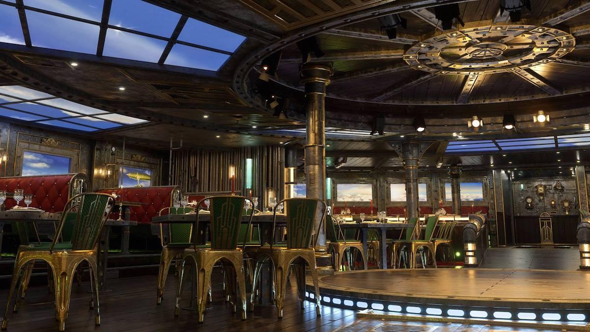 AIDAnova Entertainment Dinner in der Time Machine / © AIDA Cruises