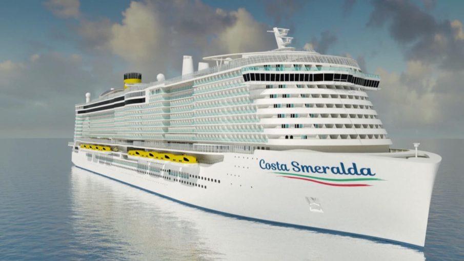 Das neue LNG Kreuzfahrtschiff von Costa Kreuzfahrten - die Costa Smeralda - ab 2019 im Mittelmeer