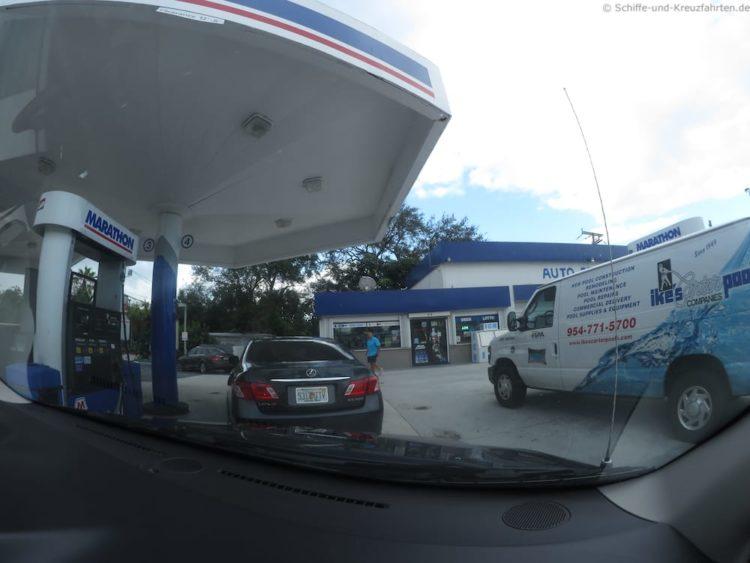 Tanken in den Usa geht nur mit Vorkasse