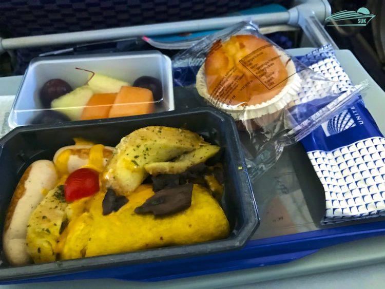 Frühstück bei United Airlines