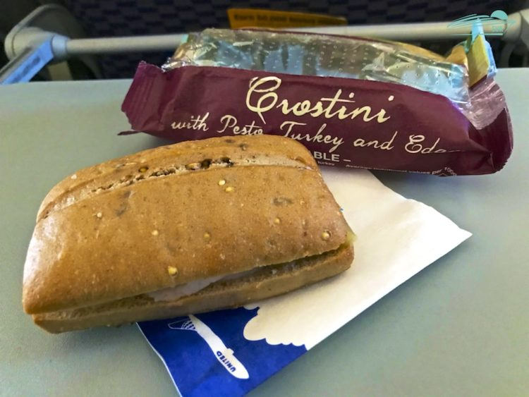 Truthahn-Käse-Sandwich United Airlines