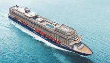 Neue Mein Schiff 1: Erstmals Wasser unter dem Kiel