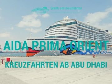 AIDAprima Orient Kreuzfahrten ab Dubai / © AIDA Cruises