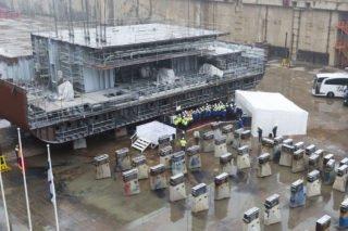 Neue Mein Schiff 2 wurde auf Kiel gelegt in Turku / © TUI Cruises