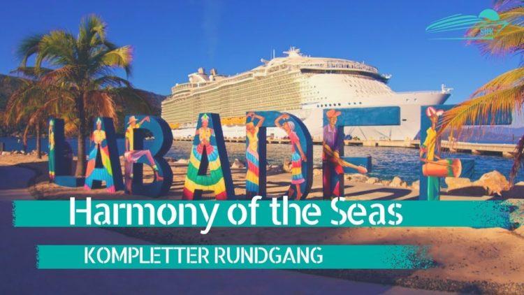 Harmony of the Seas: Rundgang - größtes Kreuzfahrtschiff der Welt beim Sonnenaufgang (Ship Tour)