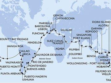 MSC Magnifica Weltreise 2020 / © MSC Cruises