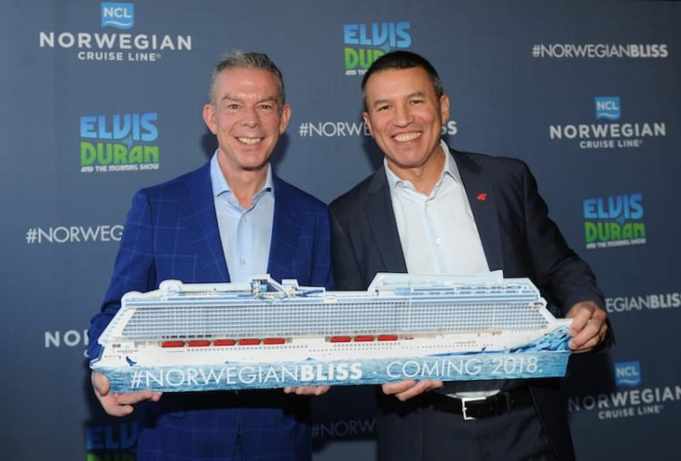 Elvis Duran wird Taufpate der Norwegian Bliss © Norwegian Cruise Line