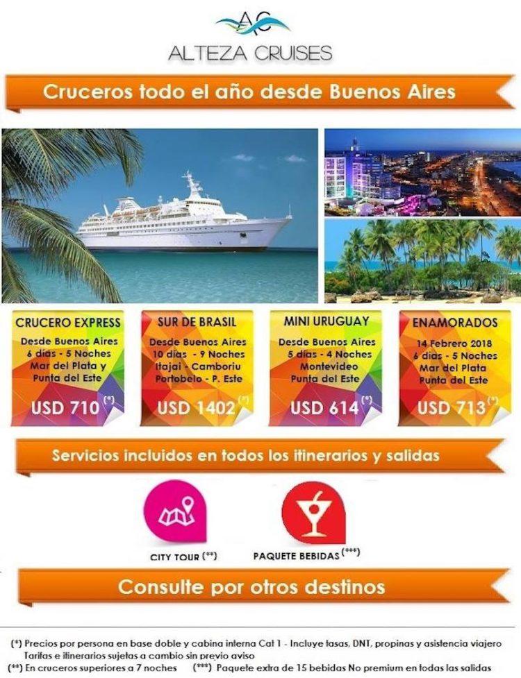 Einige Reisen von Alteza Cruises mit der MS Delphin / © Alteza Cruises
