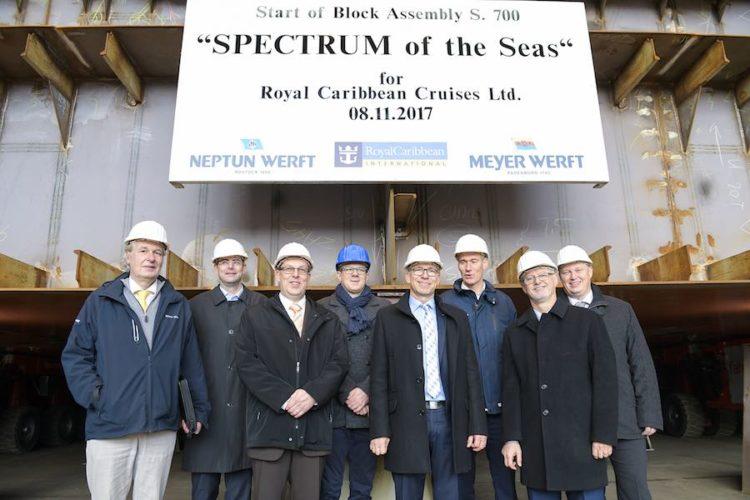 Kiellegung der Spectrum of the Seas auf der Neptun Werft / © Meyer Werft
