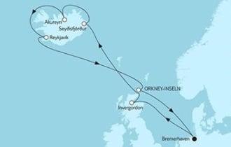 Mein Schiff 3 Island mit Schottland © TUI Cruises