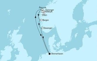 Mein Schiff 3 Norwegen mit Geirangerfjord 1 © TUI Cruises