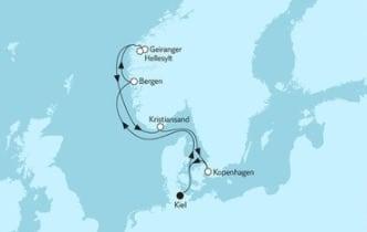 Mein Schiff 3 Norwegen mit Geirangerfjord 4 © TUI Cruises
