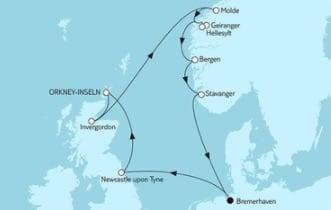 Mein Schiff 3 Norwegen mit Geirangerfjord & Schottland © TUI Cruises