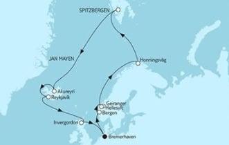 Mein Schiff 3 Norwegen mit Spitzbergen & Island © TUI Cruises