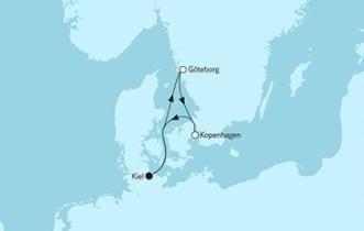 Mein Schiff 4 Kurzreise mit Göteborg & Kopenhagen © TUI Cruises