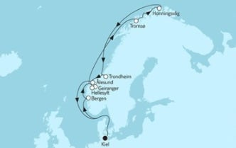 Mein Schiff 4 Norwegen mit Nordkap 1 © TUI Cruises