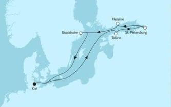 Mein Schiff 4 Ostsee mit St. Petersburg 3 © TUI Cruises