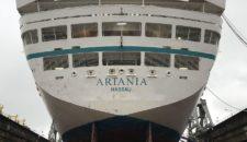 MS Artania kommt frisch aus der Werft 2017
